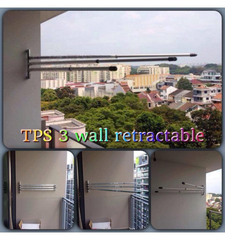 WALL RETRACTABLE LAUNDRY SYSTEM TPS3